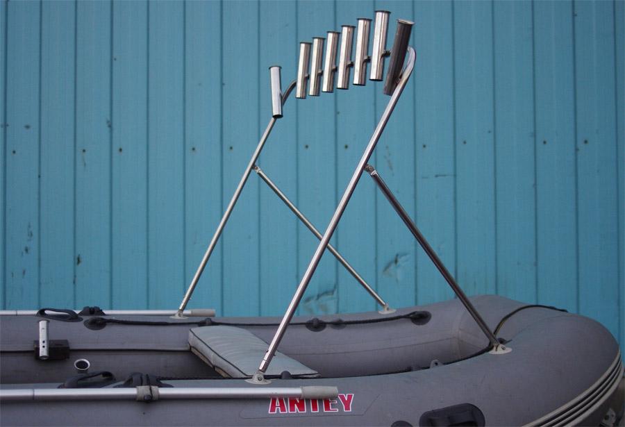 Как сделать таргу на лодку из пвх