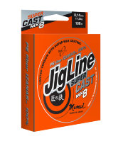Шнур JigLine Super Cast 0.14 мм, 11 кг, 100м