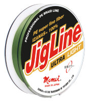 Шнур JigLine Ultra Light 0.04 мм, 2.4 кг, 100м, хаки