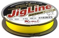 Шнур JigLine Ultra Light 0.09 мм, 7.0 кг, 100м, желтый
