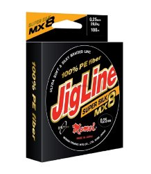 Шнур JigLine SuperSilk 0,21 мм, 18 кг, 100м, оранжевый