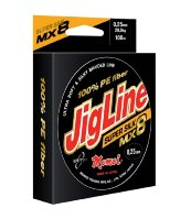 Шнур JigLine SuperSilk 0,37 мм, 37 кг, 100м, оранжевый